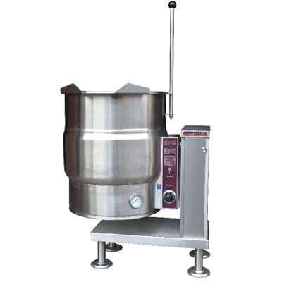 Crown Steam EC-20T 20 gal. Steam Kettle - Manual Tilt, 2/3 Jacket, 208v/1ph on Sale