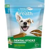 TropiClean Fresh Breath Small Advanced Dental Dog Sticks, 12 count